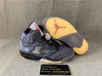 Authentic Jordan 5S Off White Grey