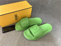 Authentic Fendl Green Slippers