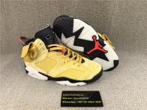 Authentic Air Jordan Travis Scott 6s Yellow