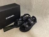Authentic ChaneI Black Slides