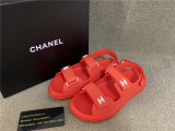 Authentic Chanel Slide Red
