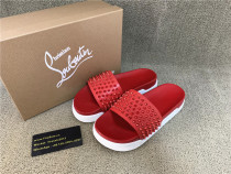 Authentic CL rED B0tton Slide Red