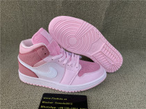 "Authentic Air Jordan 1 Mid WMNS ""Digital Pink"