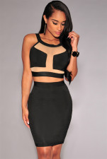 Sexy & Club Sleeveless Mini Two Piece Dresses 17228