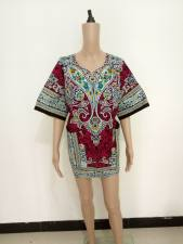 Cotton Dashiki Shirt with Pockets 21166