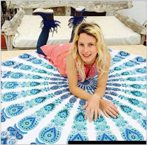 Boho Polyester Tablecloth Round Beach Towel 21120-5