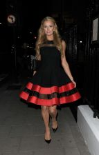 Elegant Black and Red Sleeveless Skater Dress 18721