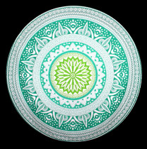 Exclusive Mandala Polyster Round Beach Towel 21120-4