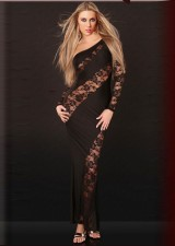 Кружева с акцентом Sexy Long Gown 11523