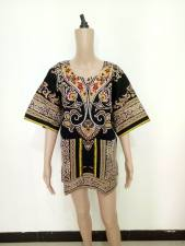 Unisex Cotton Dashiki Shirt with Pockets 21165