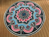 Geometric Print Round Beach Towel 21434-8
