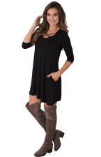 Lace-Up Sheer Long Tops 23608-1