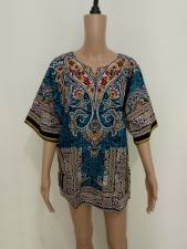 Cotton Dashiki Shirt with Pockets 21163