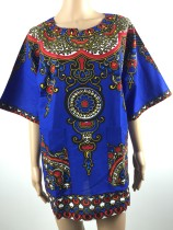 Cotton Dashiki Shirt with Pockets 21162