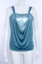 Dripped Front Tank Tops 20457-2