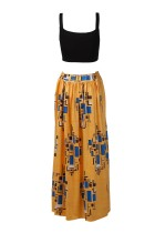 African Sexy Bra Tops and Printed Maxi Skirts 21586