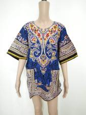 Cotton Dashiki Shirt with Pockets 21168
