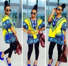Unisex Cotton Dashiki Shirt with Pockets 21177