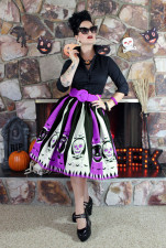 Color Block Scull A-Line Skirts 22517-2