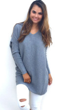 V-Neck Blue Sweaters 22645-2