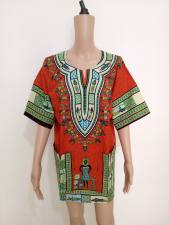 Cotton Dashiki Shirt with Pockets 21176