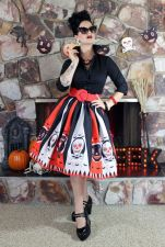 Color Block Scull A-Line Skirts 22517-1