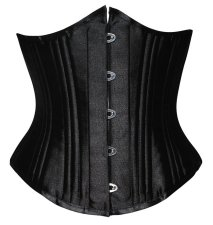 Steampunk Black Waist Cincher 19024