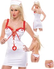 Sexy White Nurse Wear 10505