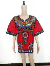 Cotton Dashiki Shirt with Pockets 21164