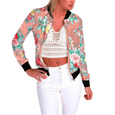 Fashion Floral Baseball Jacket 25865-3