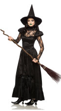Long Witch Costume voor Halloween Carvinal 27053