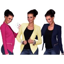 Office Lady Little Blazer with Zipper Decoration 26720-2