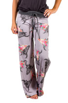 Loose-fitting Printing Yoga Pants with Contrast Waist Band 26996-2