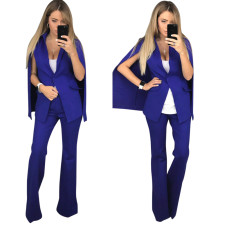 Solid Color Formal Blazer and Long Trousers  27444-1