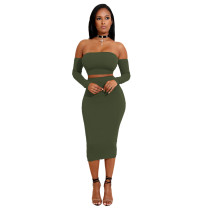 Sheer Lace-Up Bandeau Top and Midi Skirts 27298-5