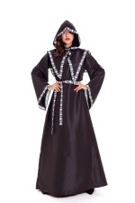 Black and White Skeleton Robe for Halloween 27338