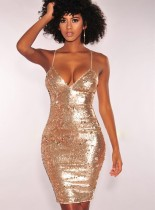 Sexy Bling Bling Straps Party Dress