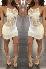 Sexy White Crochet Beach Dress