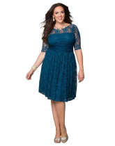 Plus Size Full Lace A-line Dress