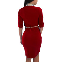 1/2 Sleeves Office Dress with Collar