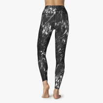 Print Black Gym Tight Leggings