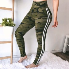 Sports Camou Legging with Contrast Band