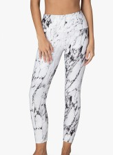 Print White Gym Tight Leggings