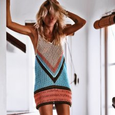 Sexy Sleeveless Hollow Out Crochet Beach Dress