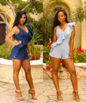 Occassional Ruffles Denim Rompers