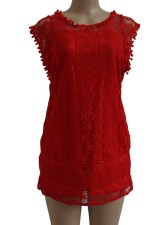 Red Lace Short Holiday Dress