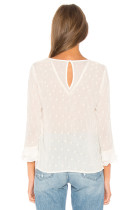 White Ruffles Romantic Top