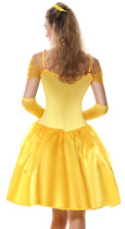 Canival Costume Princess Yellow Dress