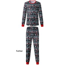 Family Wear Christmas Pijama Preto para Pai