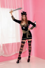 Black Pirate Costume for Women